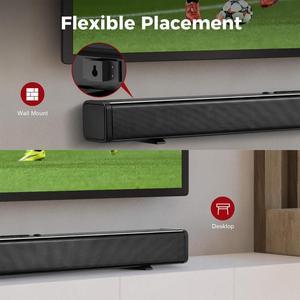 Image 5 - テレビサウンドバー 60 3w の bluetooth スピーカースタイリッシュなハイファイホームシアターシステムサウンドバー 3D ステレオサラウンドサポート光学/aux/tf カード/usb