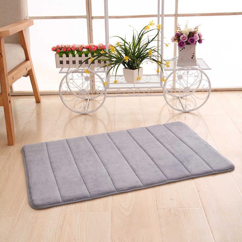Water Absorption Rug Bath Mat Bathroom Carpet Shaggy Memory Foam Door Floor  Mat kitchen Toilet Non-slip Accessories Products