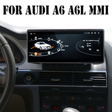 Liandlee 자동차 멀티미디어 플레이어 NAVI 아우디 A6 A6L 2005 ~ 2011 MMI 10.25 인치 CarPlay 액세서리 A6 라디오 스테레오 GPS 네비게이션