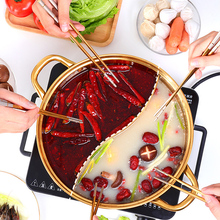Pots Kitchen-Utensils Hot-Pot Twin-Divided Stainless-Steel Cooking-Tool Soup-Stock Single-Layer