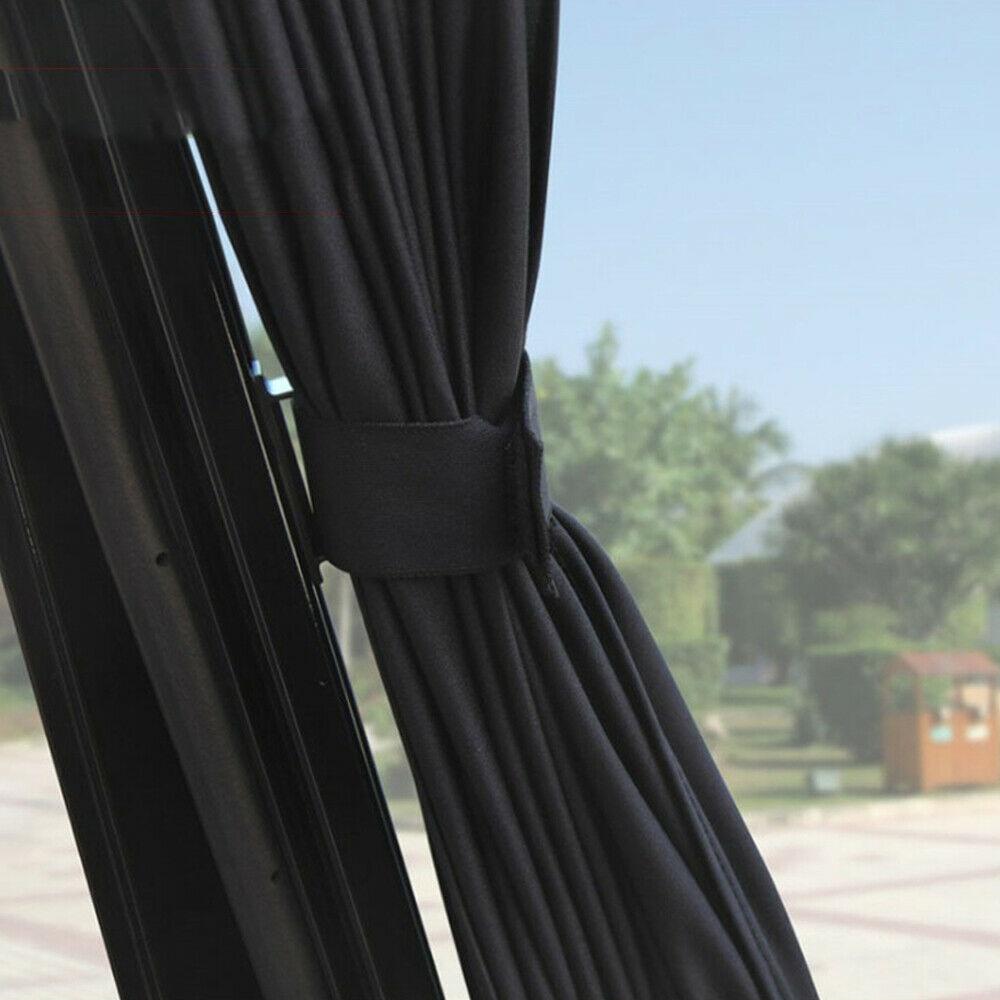 Car Blinds Sunshade Curtains Without Elastic Belt 50*47 Black Pure Cloth General-purpose Aluminum Alloy Rail