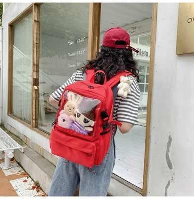 Torba dla kobiet 2020 koreański liceum Harajuku ładna dziewczyna plecak studencki dzika kobieca torba na ramię tornister ita itabag