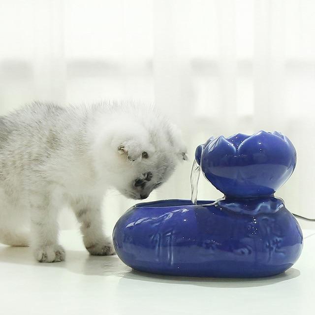 Fontaine à eau céramique pour chat