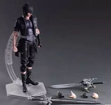28cm Play Arts Kai Noctis Lucis Caelum <font><b>Final</b></font> <font><b>Fantasy</b></font> <font><b>XV</b></font> Anime Action Toy <font><b>Figures</b></font> Pvc Model Collection Original Box For Kids gift image