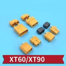 High Current XT60 XT90 Plug Anti Slip XT60 Battery Connector Male Female ESC   Plug Cord with Protective Sleeve for RC Car/Boats wild scorpion 7 4v 1800mah 2cell 30c xt60 plug for rc model