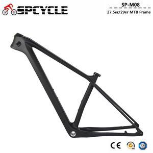 Image 2 - Spcycle 27.5er 29er carbono mountain bike quadro 148x12mm impulso ou 142x12mm através do eixo bsa mtb quadro de bicicleta
