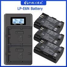 Аккумуляторная батарея palo lp e6 2000 мАч + двойное зарядное