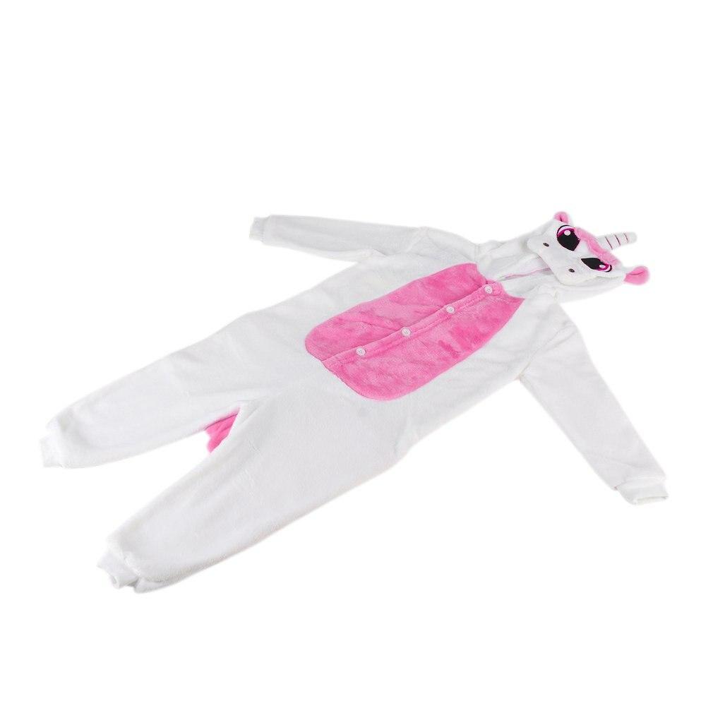 Children Kids Cute Animal Footed Pajama One-piece Sleeper Full Sleeve Pajama Soft Flannel Pajama Suitable For 130-140cm