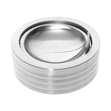 Windproof Ashtray Cigarette Stainless-Steel Silver Round with Lid Smoking-Ashtray-Holder
