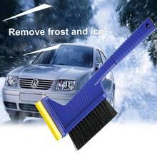 Szczotka do odśnieżania samochodu łopata z młotek ewakuacyjny Auto szyby Snowbrush narzędzie do usuwania samochodów Truck SUV Winter Remover tanie tanio CN (pochodzenie) 37cm ABS nylon Skrobaczka 250g