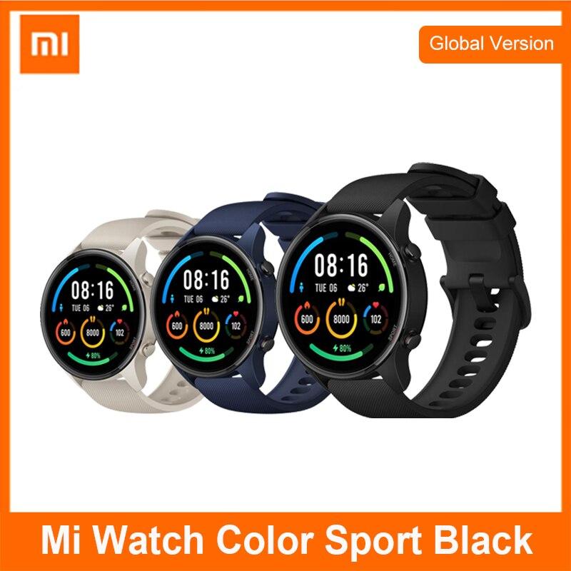 Глобальная версия Mi Смарт часы GPS фитнес-трекер умные часы Xiaomi цвет 5ATM водонепроницаемой экш-монитор сердечного ритма 1,39 дюймов экран с орга...