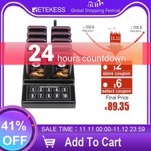 Retekess SU 68G مطعم بيجر مع 10 جهاز استقبال بيجر لمطعم الكنيسة عيادة النادل نظام اتصال لاسلكي