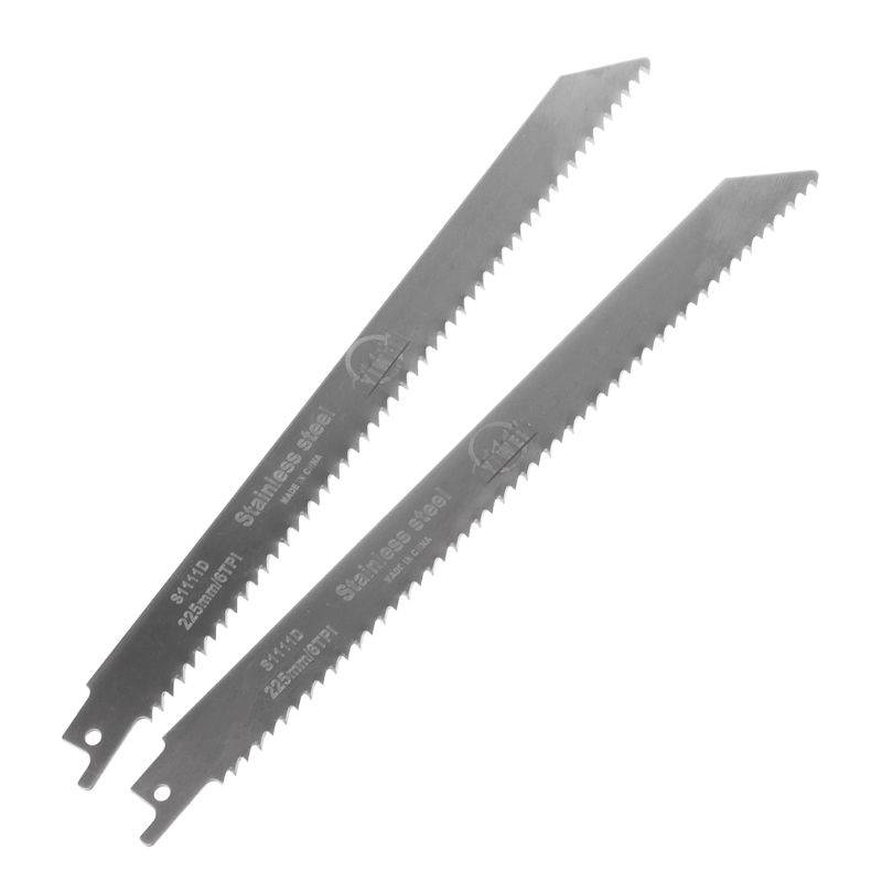 2pcs Stainless Steel S1111D 228mm Reciprocating Saw Blade For Cutting Wood