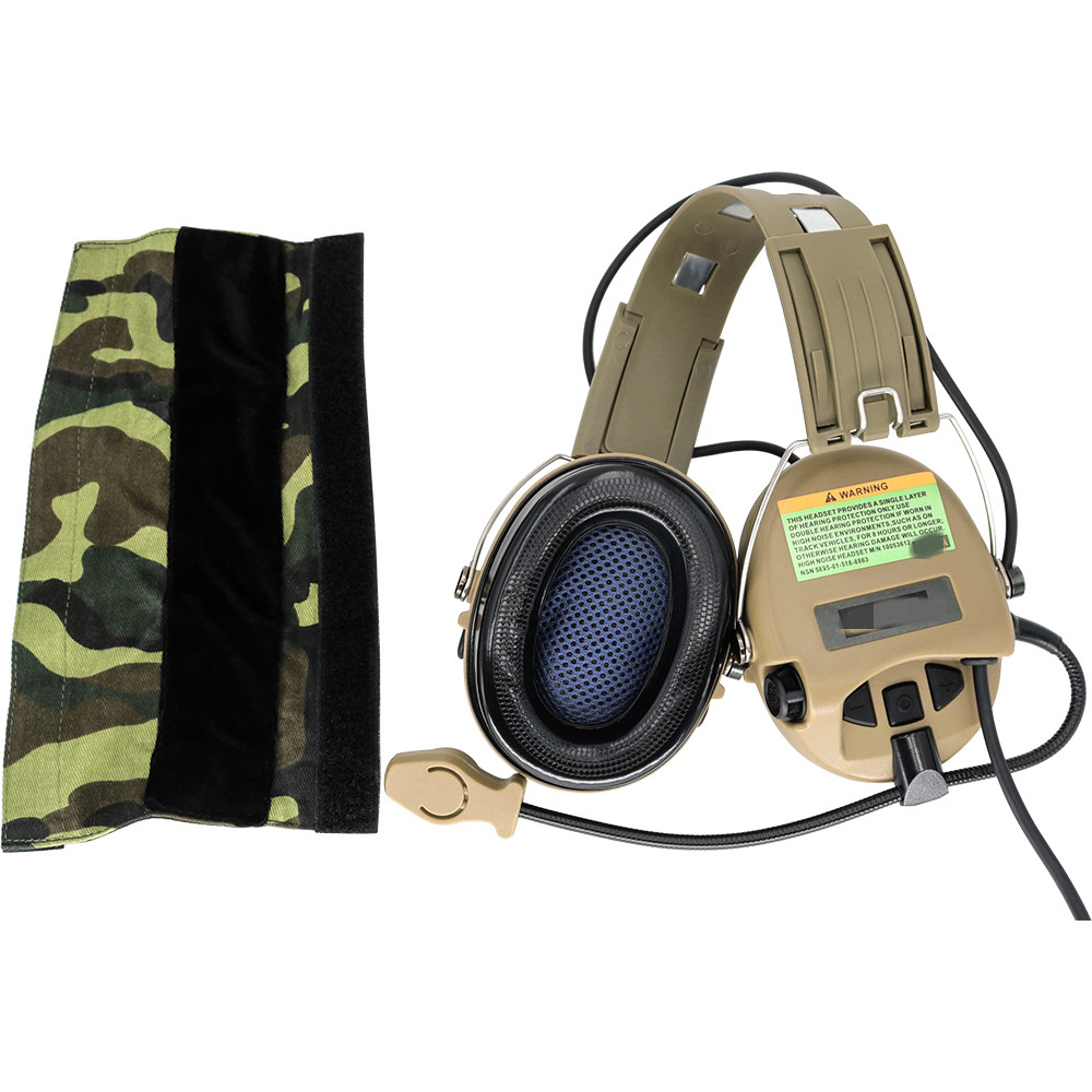 Tactical Airsoft Sordin Headset Hunting Shooting Headphone Military   Pickup Noise Reduction Hearing Protection Earmuffs