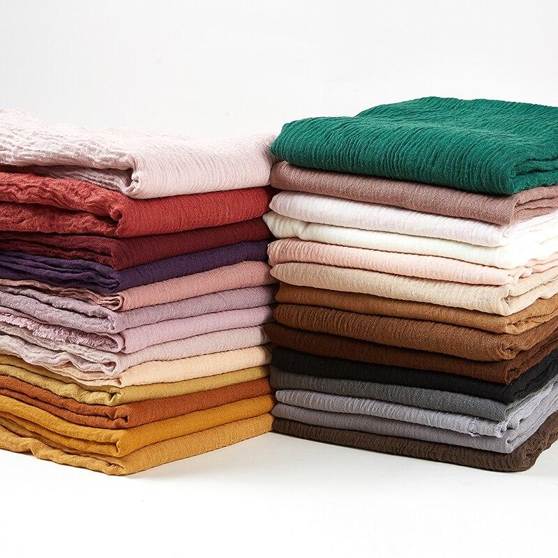 Bubble Plain Cotton Fringes Women Soft Solid Hijab Muffler Shawls Big Pashmina Wrap Hijab Scarves Wholesale Thicker 10pc/lot