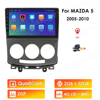 autoradio 2 Din Car Android Multimedia Player For Mazda 5 2005-2010 9 Inch RAM 2GB 32G 2Din Radio Audio GPS Navi WIFI 4G LTE rds image