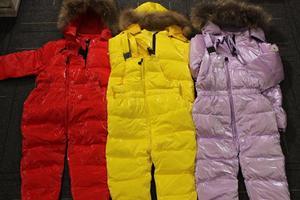 Image 4 - 2019 yeni marka kış tulum çocuk giyim için 2 8Y kışlık mont erkek kırmızı yeni yıl ördek aşağı ceket kız snowsuit parka