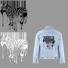 black white zebra iron on patches thermal stickers on clothes heat transfer for T-shirt jacket patch thermocollants vetement diy blinghero cartoon thermal patches cute iron on patch stickers t shirt jacket heat transfer patches diy pacth bh0350
