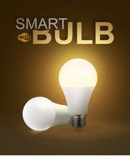 Lámpara Wifi E27 temporizador regulable LED bombillas Control remoto EU estándar trabajo con Alexa y asistente de Google