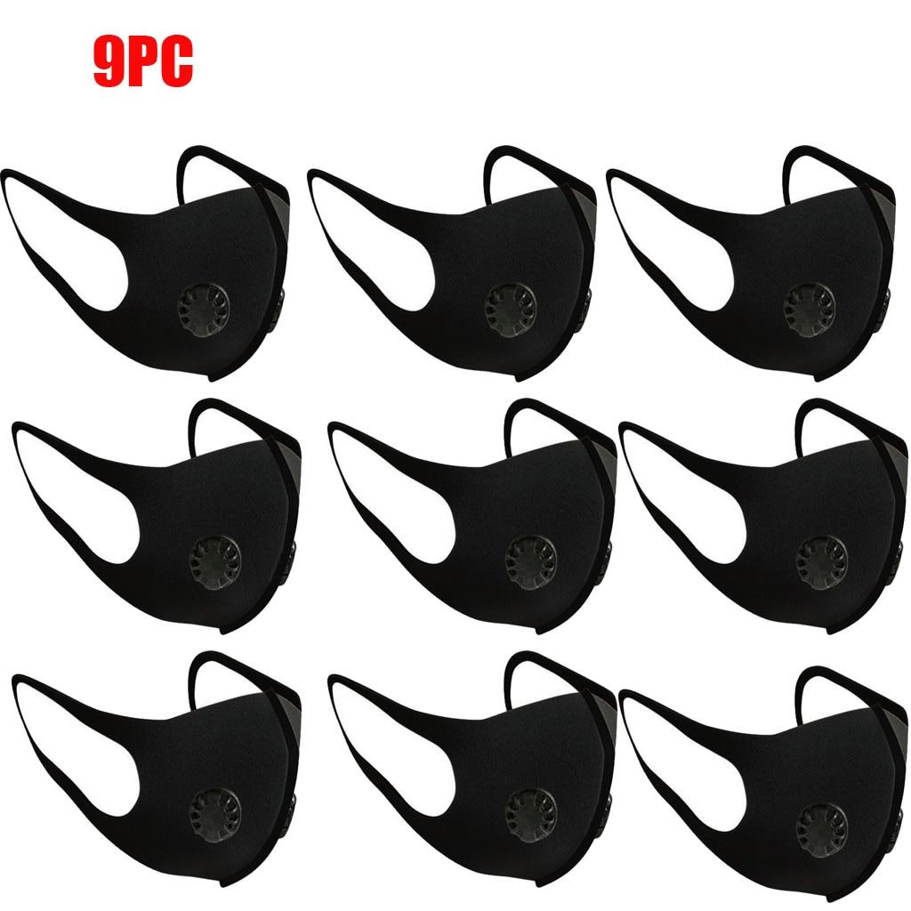 9 PC Washable Elastic Ear Loops Face Breathing Face Maske Reusable Anti-Dust Cotton Lip Maske Fashion Adult Maske Respirator