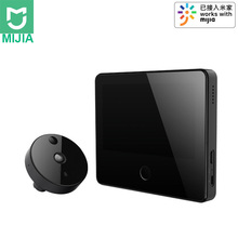 Xiaomi MIJIA 1080P 161° FHD Wireless Smart Cat eye Video Doorbell with 5inch Touch Screen AI Face & PIR Movement Detection