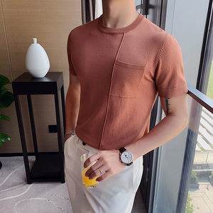 Image 2 - Мужская футболка с коротким рукавом, Повседневная облегающая Трикотажная футболка с круглым вырезом, размеры 3XL, 2020