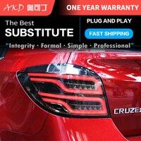 AKD tuning cars światła tylne dla chevroleta Cruze Hatchback tylne światła LED DRL światła do jazdy światła przeciwmgielne anielskie oczy tylne światło
