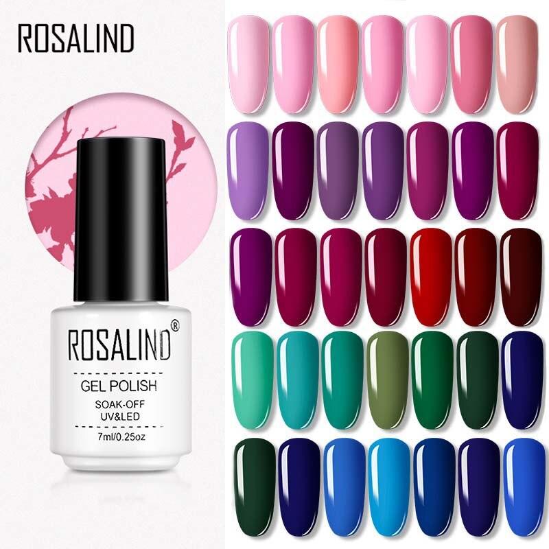 ROSALIND Gel vernis hybride vernis à ongles couleur série imbiber UV Gel vernis Semi Permanent 7ml Gel laque tout pour manucure