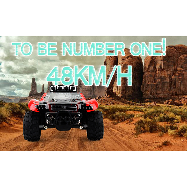 1:18 48KM/H 2.4G Machines Remote Control Model Vehicle Kids Electric RC Car Gift Climbing Big Tire Off Road Truck High Speed 6