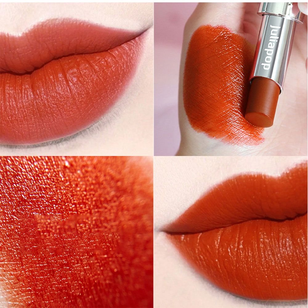 Waterproof Matte Lipstick Makeup Professional Long Lasting Red Lip Tint Matte Lipstick Shimmer Lip Woman Korean Cosmetic Beauty 1
