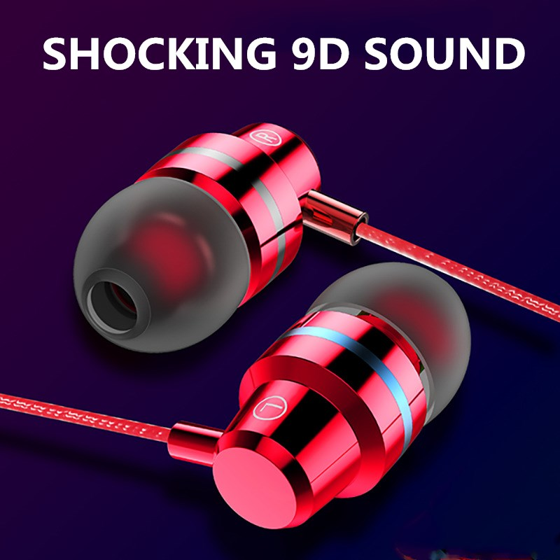 Wired Earbuds Headphones 3.5mm In Ear Earphone Earpiece With Mic Stereo Gaming Headset For Samsung Xiaomi Phone Computer