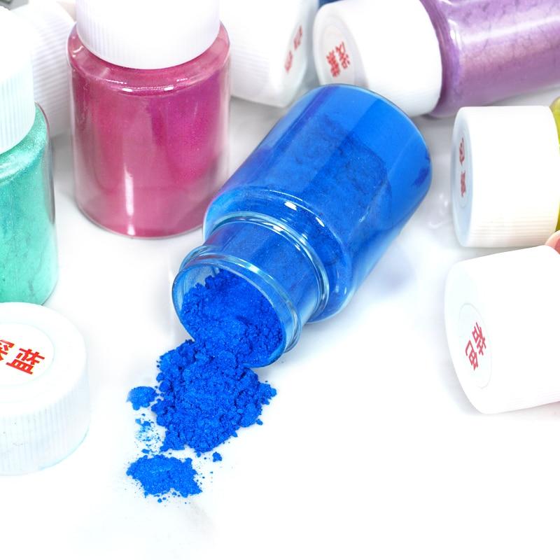 10g Pigmento De Perlas En Polvo Para Lodo Todos Los Ingredientes Para Slimes Diy Arte Para Colorear Cristal Decoración De Arcilla Suministros Juguetes De Juego Niños