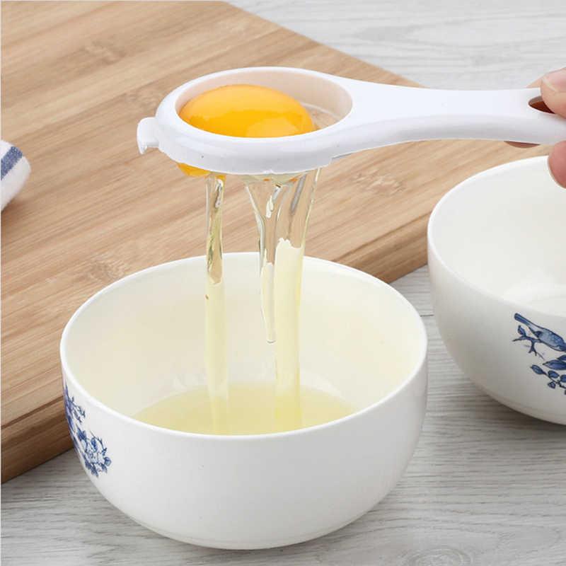 1 Chiếc Hộ Gia Đình Nhựa Trắng Lòng Đỏ Trứng Seperator Phân Cách Nấu Ăn Nhà Bếp Tiện Ích Dụng Cụ Rây Bột Trắng Dụng Cụ Tách Lòng Trứng Dụng Cụ Nhà Bếp