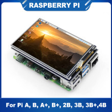 ITINIT R30 Raspberry Pi 4 Model B 3.5 Inch Touch Screen 480x320 LCD with ABS Case Raspberry pi 3B/3B+/4B Screen Kits