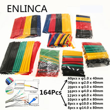 Heat-Shrink-Tubing-Wire-Cable Sleeving Shrinking Insulation Polyolefin 127-164pcs Termoretractil