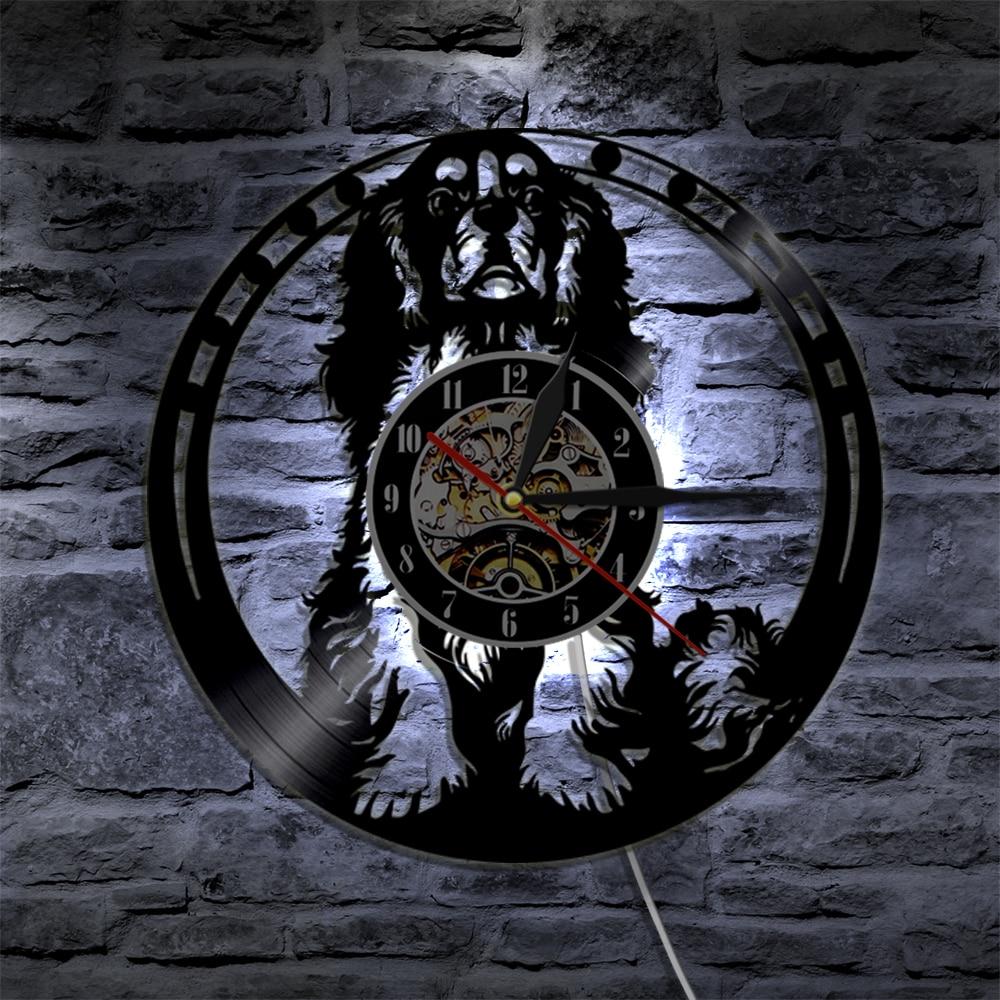 Cavalier King Charles Spaniel Dog Wall Clock Cavalier Wall Art Dog Breed Pug Dog Vinyl Record Clock Dog Lover Housewarming Gift Wall Clocks Aliexpress