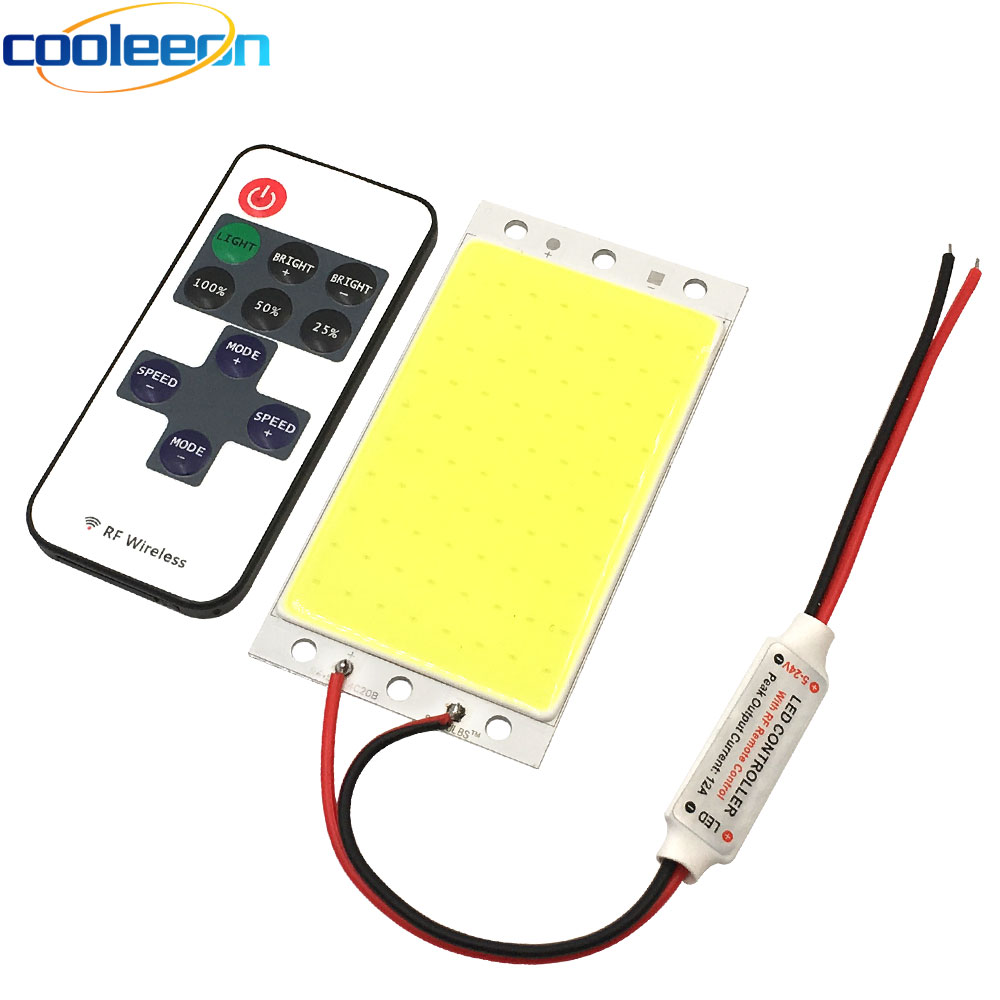 12V 15W COB LED Panel Light With Dimmer Controller 1500LM Warm Nature Cold White DC12V Dimmable LED Bulb For Diy Work Decor Lamp