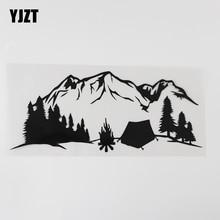 Car-Sticker Mountains Camping Forest Black/silver Vinyl YJZT Travel 8A-1006 Fun