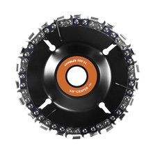 4Inch Chain Plate Angle Grinding Wheel Wood Carving Disc Woodworking Saw Blade Cutting Mill Tray
