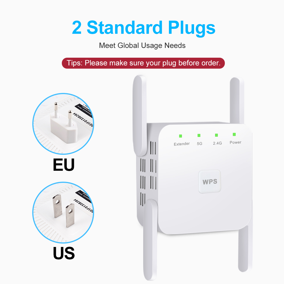 5 Ghz WiFi Repeater Wireless Wifi Extender 1200Mbps Wi-Fi Amplifier 802.11N Long Range Wi fi Signal Booster 2.4G Wifi Repiter 6