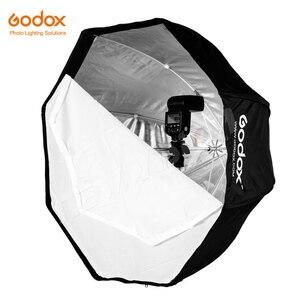 """Image 3 - Godox taşınabilir 95cm 37.5 """"sekizgen şemsiye Softbox petek izgara ile, ışık standı, sıcak ayakkabı tutucu braketi flaş Speedlight"""