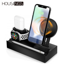 Wireless Charger Holder For Apple Watch Airpods QI Dock Station Fast Charging iPhone iPad Headset Multi Function Desk Stand