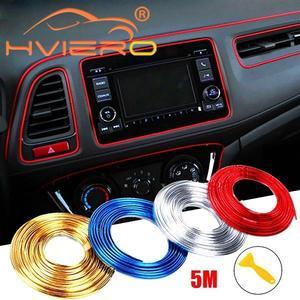 5M Adhesive Strips Car Interior Decoration Molding Car Door Lights Line Air Vent Panel Direction-Flexible Wheel Auto Seat Back