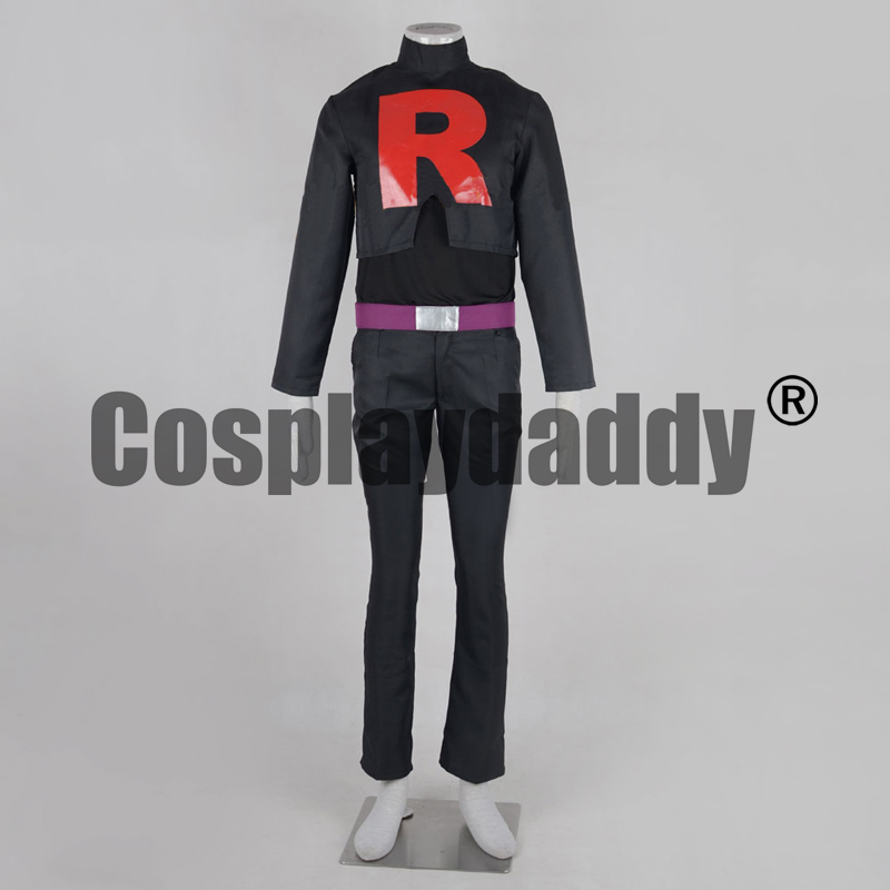 Pokemon Black & White Pocket Monsters Best Wishes! Team Rocket James Kojiro Black Uniform Outfit Anime Game Cosplay Costume F006 image