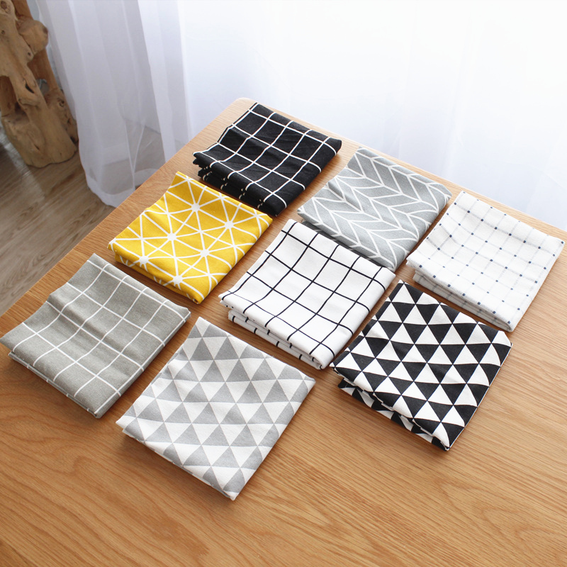 Qianyun 40*60cm Table Napkin Square Satin Fabric Pocket Handkerchief Cloth For Home Decoration Event Party Hotel Home Supplies