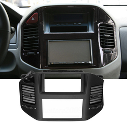 Car ABS Front Dash Panel Center Air Outlet Vent Cover Frame Fit for Mitsubishi Pajero Montero MK3 2006 2005 2004 2003 2002 2001