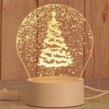 Table-Lamp Night-Light Led-Toys Dinosaur Christmas-Tree Children Gift 3D USB Bear