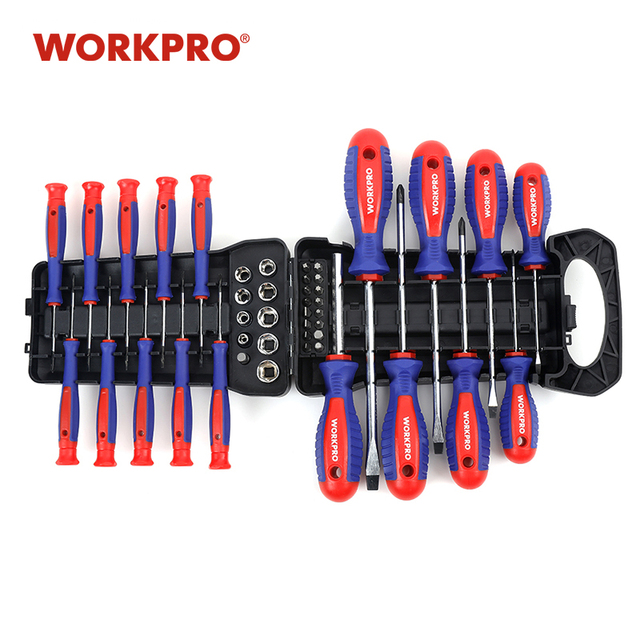 WORKPRO 45PC Screwdriver Set Precision Screwdrivers for Phone  with Bits set 1
