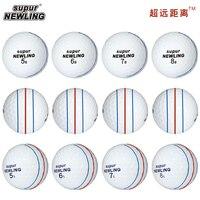12 Pcs Golf Balls Supur Newling Triple Track Long Distance 3-pieces Golf Ball