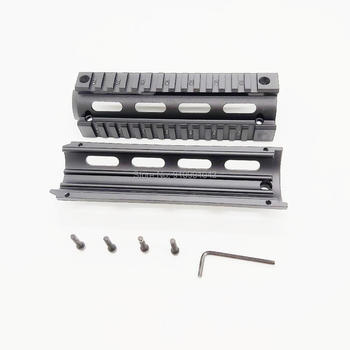 m4 m16 free float quad rail ar 15 tactical handguard picatinny quad rail mount for m4 m16 10 12 15 inch AR 15 tactical handguard Drop-In handguard Drop In Quad Rail Two Piece AR 15 Handguard Aluminum 4 6.7 9 inch for M4 M16